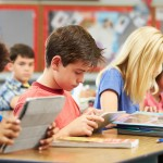 Pupils In class using digital tablets. Source: Thinkstock