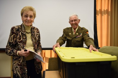 The Neag School of Education hosted a talk for visiting international educators and students featuring Holocaust survivor Henry Simon and West Hartford native Ben Cooper, a WWII veteran who helped to liberate the Dachau concentration camp.