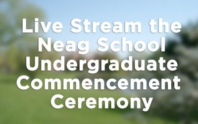 Live Stream Button for Undergrad Commencement 2017