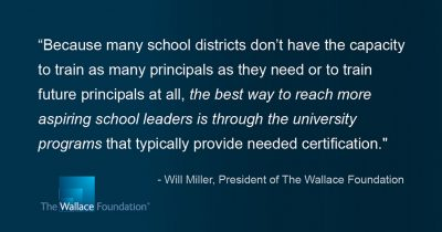 Wallace Foundation grant; principal preparation; UConn Neag School of Education