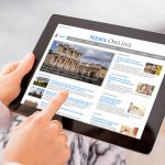 Online News Headlines on Tablet