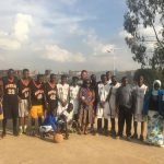Khalil Griffith in Kenya with high school basketball team