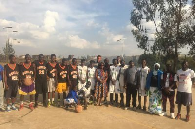 Khalil Griffith in Kenya with high school basketball team