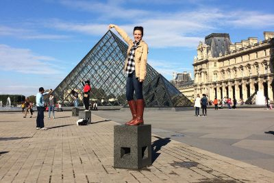 Katie Culik at the Louvre