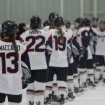 Marisa Maccario and UConn Women's Ice Hockey Team