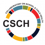 Collaboratory on School & Child Health logo. CSCH makes recommendations for research and and practice that promote child well-being.