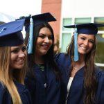 Class of 2017 Graduates Celebrating Prior to Undergraduate Ceremony