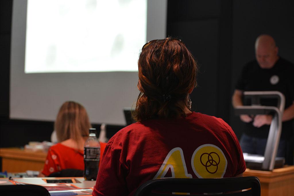 Student sitting in CSI class during Confratute 2017
