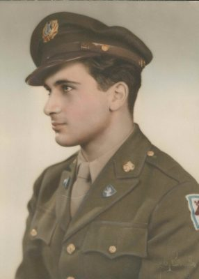 Archive photo of Vincent Rogers in Army uniform, courtesy of Vincent Rogers