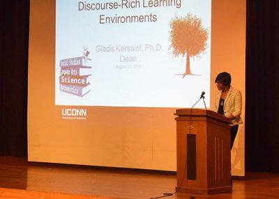 Dean Kersaint at Windham Public Schools Convocation