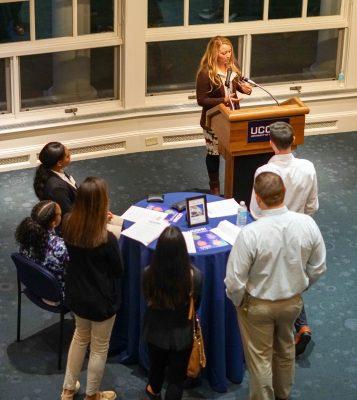 Career Night in Sport keynote speaker Leigh Michaud