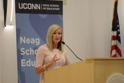 Bridget Heston Carnemolla speaks at Educational Leadership Forum