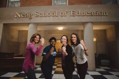 Global Sports Mentoring Program Emerging Leader with UConn mentors