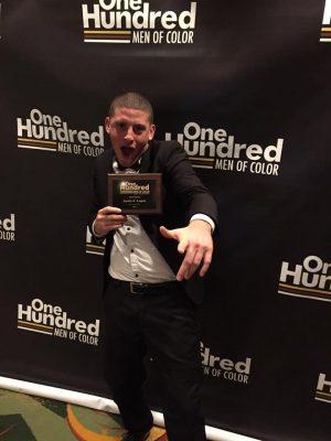 Justis Lopez at 100 Men of Color Awards