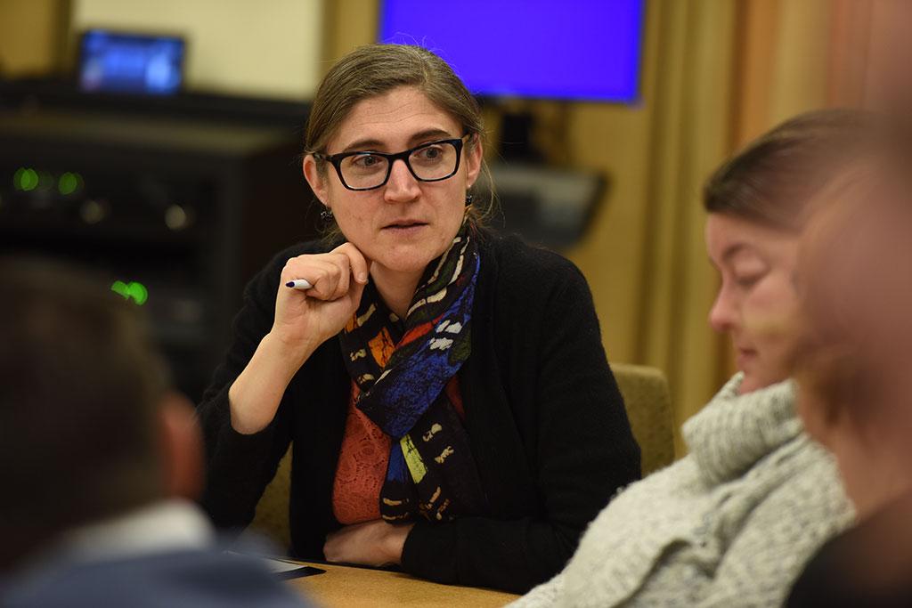 Sarah Woulfin at UPPI kickoff meeting