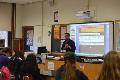 Sushruta Kunnenkeri in the classroom at NFA