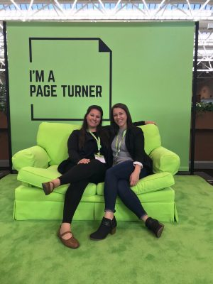 Anastasia DiFedele-Dutton and Elizabeth Simison gather at the National Council of Teacher of Education Conference