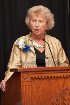 Fran P. Mainella `69 (ED) was recognized in 2011 by the Neag School of Education's Alumni Board with the Distinguished Alumna award.