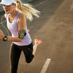 Athlete running with wearable device (iStock image)