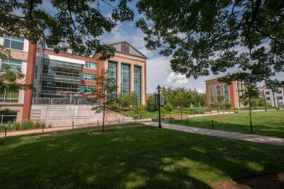 Gentry Building in summer (Photo Credit: Sean Flynn/UConn)