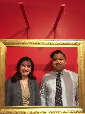 Two secondary education history master's students, Matt Franco and Julia Eldridge, are spending their spring semester interning at the Connecticut Historical Society in Hartford, Conn