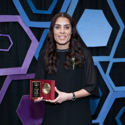 Xaimara Coss '04 (ED), '16 MS, licensing manager for the NBA, was named Outstanding Early Career Professional for 2018. (Photo Credit: Roger Castonguay/Neag School)