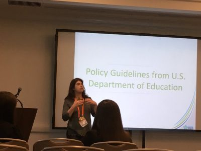 Kern presents at a national conference (Photo courtesy of Jennifer Freeman)