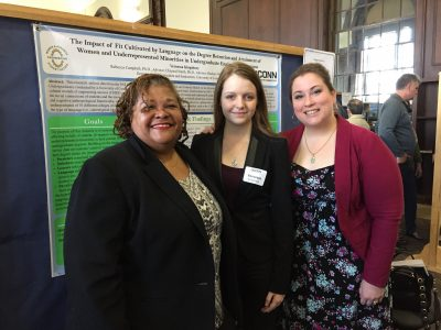 Vanessa Kingsbury (center) is photographed with Chrystal Smith (left), co-investigator Rebecca Campbell.