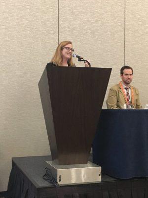 Janet Vanlone presents research in San Diego (Photo courtesy of Jennifer Freeman)