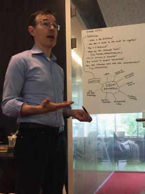 Devin Kearnspresented on data-based decision making at the Lorentz Center in Leiden, Nethlerlands, in June.