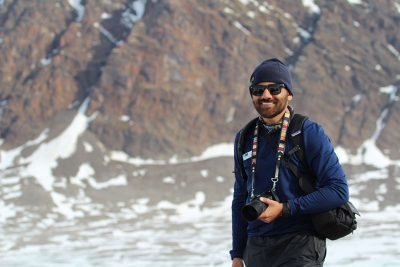 Parag Bhuva '12 (CLAS), '13 MA, a teacher in Washington, D.C., traveled this past summer on an expedition to the Arctic with National Geographic and Lindblad Expeditions, through its Grosvenor Teacher Fellowship. (Photo courtesy of Parag Bhuva)