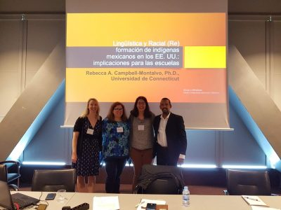 Rebecca Campbell-Montalvo served as a co-panelist in May at the Latin American Studies Association meeting in Barcelona. (Photo courtesy of Rebecca Campbell-Montalvo)