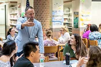 The Neag School of Education Alumni Board and the Teacher Education Program hosted Strong Beginings Workshop for first- and second-year teacher education students. The workshop was held at Lewis Mills High School in Burlington, Conn. on Aug. 18.