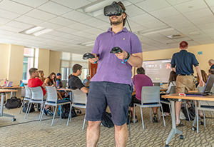The UConn Two Summers Master's in Educational Technology Online Program is up and running with the new 2018-2019 cohort. In the initial week-long face-to-face session, the emphasis was on sharing, designing, and reflecting on a variety of potential classroom tools and practices. This includes exciting, emergent technologies like virtual reality, robots, drones, games, and more.
