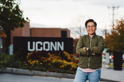 Jane Nguyen, a 2018 Global Sports Mentoring Program Emerging Leader, visits the University of Connecticut this month. (Photo Credit: U.S. Dept. of State in cooperation with University of Tennessee Center for Sport, Peace, & Society. Photographer: Jaron Johns)