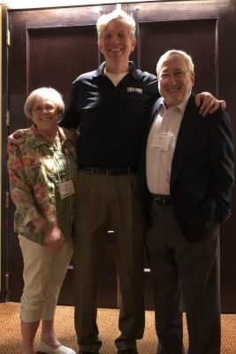 Joseph Madaus, pictured in the middle, gathered with Joan McGuire and Stan Shaw during the 2018 PTI conference in Boston. (Photo courtesy of Joe Madaus)