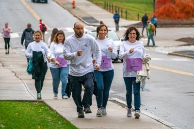 Faculty, staff and students in the Neag School participated in the annual Robert Run.