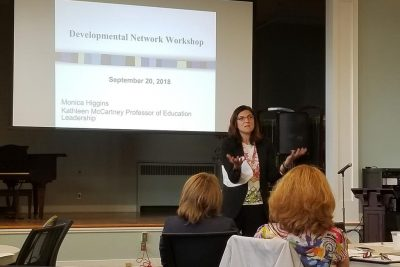 Jennie Weiner, co-author of The Strategy Playbook for Educational Leaders, presents at CAPSS Seminar.