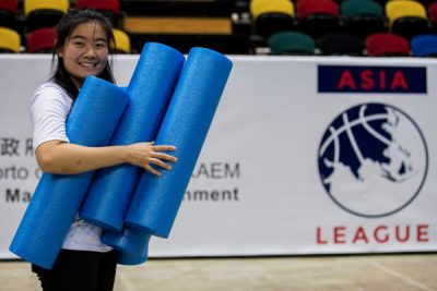 Ivy Kim (pictured) and other sport management students gained experience this past summer working abroad with Asia League, a start-up basketball company tasked with organizing some of Asia's elite basketball clubs. (Photo courtesy of Ivy Kim)