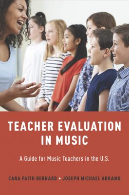 Book cover Teacher Evaluation in Music by Cara Bernard and Joseph Abramo