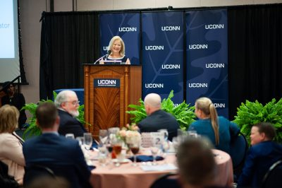"""UConn was always at the top of the list as a university that I would want to continue to give to,"" said Carla S. Klein, who received the Neag School's 2019 Distinguished Alumna Award. (Defining Studios)"
