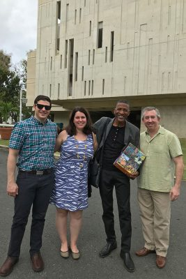 Joseph Abramo, Cara Bernard, William Cepeda, and David Moss in Puerto Rico. (Photo courtesy of Cara Bernard)