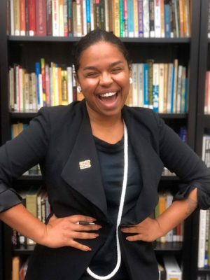 Pauline Batista, a second-year doctoral student in educational leadership, was recognized with the Graduate Student of the Year Award from UConn's NCAAP Youth and College Chapter. (Photo courtesy of UConn Center for Education Policy Analysis)