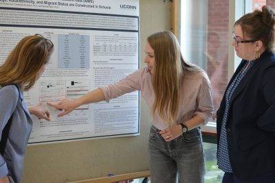 The Center for Behavioral Education and Research (CBER) hosted its eighth annual CBER Graduate Research Symposium at the UConn Storrs campus earlier this month. The symposium included a researcher panel and a poster session featuring graduate students' research.