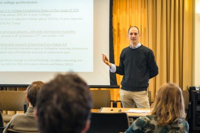 Philip Oreopoulos from the University of Toronto spoke at the CEPA Speaker Series event at the UConn Storrs campus in April.