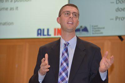 Christopher Wethje '02 JD, human resources director for East Hartford (Conn.) Public Schools, has been active in Neag School's professional development efforts.