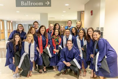 Members of the HESA class of 2019 gathered before the graduation celebration.