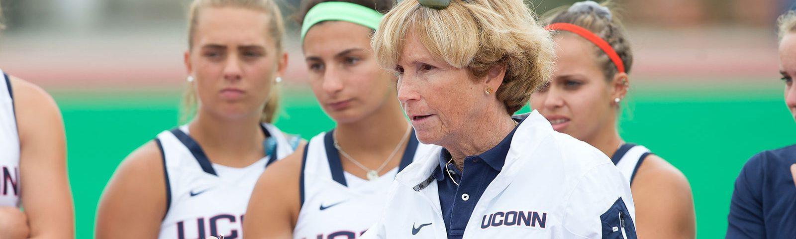 Op-Ed: The War on Women Coaches —Nancy Stevens, field hockey coach, pictured