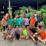 Kiana Foster-Mauro with schoolchildren in Costa Rica