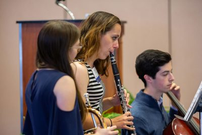 Music education students perform at the Neag School of Education's Scholarship Celebration.